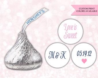 Hershey kiss sticker (108) - Hershey kiss sticker wedding - Hershey kiss labels - Hershey kiss stickers wedding (HK002)