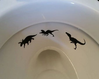 Toilet Targets - Dino Hunter Edition!!!