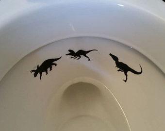 Toilet Targets - Dino Hunter Edition!!!