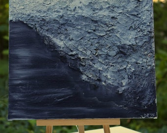Abstract, mixed media art - Black River