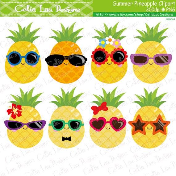 Pineapple Clipart Cute Pineapple Clip Art Sunglasses
