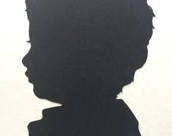 Custom Hand Cut Silhouettes Cameo, Custom Family Portrait, Personalized Gift ideas