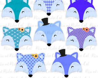 """Fox clipart. Foxes vector graphics, Foxes clip art, digital images. Commercial use. Model """"Lovely Foxes 3"""""""