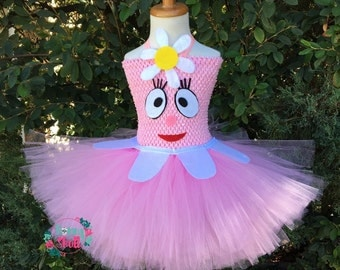 Foofa Tutu Dress- Yo Gabba Gabba Tutu Dress- -Yo Gabba Gabba Party, Costume, Foofa Outfit, Muno, Toodee, Plex