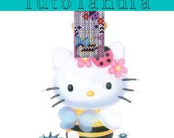 Pattern manhette Hello Kitty-peyote (Italian)
