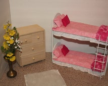 Handcrafted Furniture Bed /Bunk Beds Set For Barbie Monster High