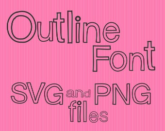 SVG Outline Font Alphabet Numbers Characters for Cutting Machines