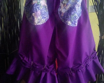 Women's handmade pants / capris with pockets / fairy pants / bloomers / purple pants / pixie pants