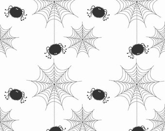 Spider Webs on White by Riley Blake Designs
