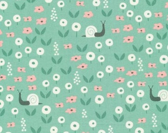 Sunday Stroll in Green, Park Life Collection by Elizabeth Olwen for Cloud 9 Organic Fabrics