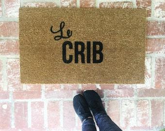 Le Crib Doormat, Doormats, Rugs, 18x30 outdoor mat, Custom Doormat, Custom Rug, Shop Josie B, Le Crib