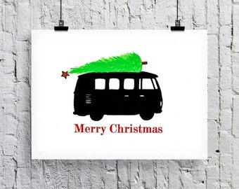 Camper Christmas card