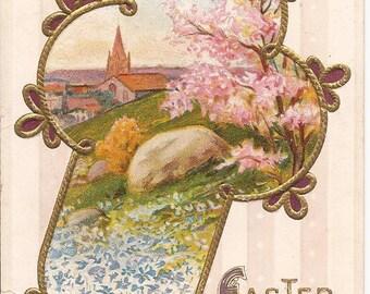 Vintage Easter postcard, embossed E. Nash Postcards, around 1910, never mailed