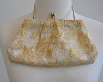 Gorgeous Gold Brocade 60's Evening Bag