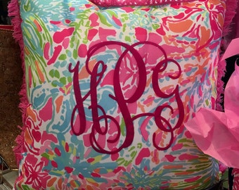 Personalized Lilly Pulitzer Pillow
