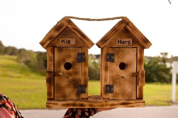 Amish Duck Houses : Amish handcrafted his hers bird house