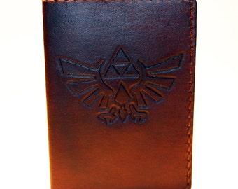 Legend of Zelda! Leather Passport Cover! Leather Passport Holder! Leather Travel Passport Cover! Brown Handmade Passport Cover! SALE!