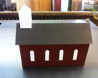 Steel Church Barn Custom Mailbox Metal Mailbox Steel Customizable Mailbox Church Or Barn