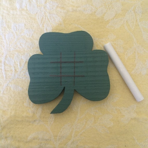 Shamrock Tic Tac Toe Game from Dust Witch Creations