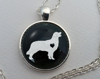 Custom Golden Retriever Necklace, Glass Dome Pendant, Cute Dog Lover Gift, Round Art Charm Jewelry, Pet Memorial Jewellery, Golden Retriver