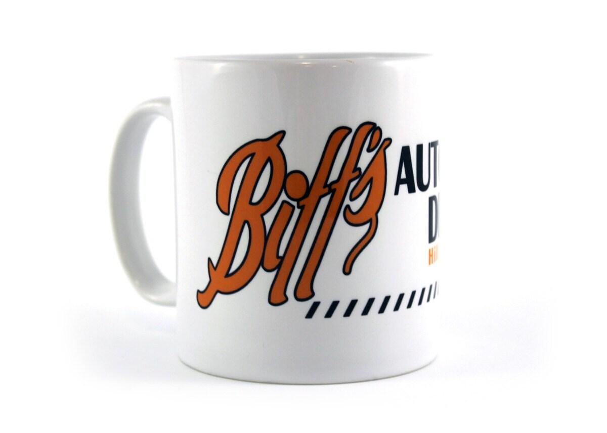 back to the future biffs auto detailing movie mug