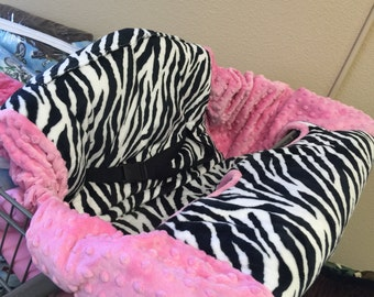 Zebra, Shopping Cart Cover. Several colors to choose from