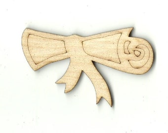 Diploma - Laser Cut Out Engraved Unfinished Wood Shape Craft Supply SCL2
