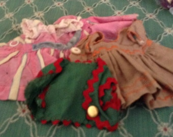 Vintage 3 Items Doll Clothes
