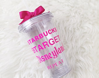Target tumbler, cold cup, personalized tumbler, starbucks cup, cute cup, beach cup, teacher gift, girls gift, coffee cup
