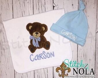 SHIPS FAST!!  Teddy Bear Bib, Burp Cloth, Shirt, Bodysuit, Romper or Bubble