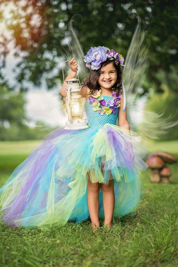 fairy tutu dress fairy costume water fairy by themusecreations. Black Bedroom Furniture Sets. Home Design Ideas