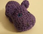 Hippo Amigurumi Amigurumi Toy, Crocheted Hippo Animal Stuffed Hippo
