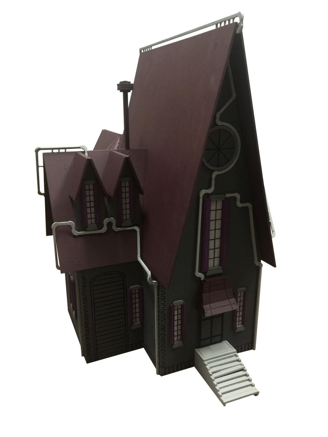 Gru S House Model Painted Assembled From Birdswoodshack On