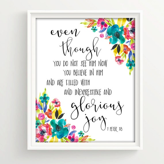 Calligraphy print bible verse art printable