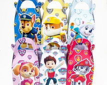 Paw Patrol Favor Box Candy Box Gift Box Cupcake Box Boy Kids Birthday Party Supplies Decoration Event Party Supplies