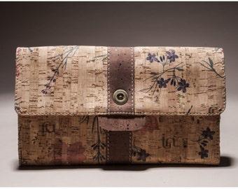Cork Handbag, Eco Friendly and Ethical Vegan Cork Bag with 100% certified Organic Cotton - NANTES