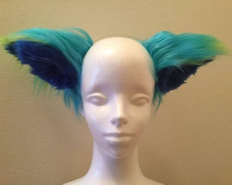 Giant Blue and Green Cat Ears