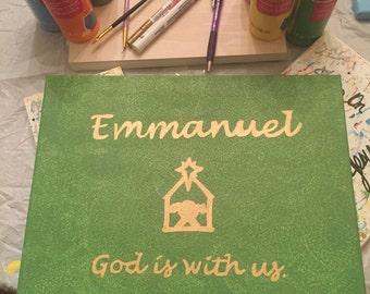 11x14 Canvas - Emmanuel