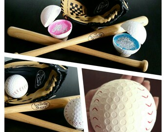 Baby Gender Reveal Baseball Set: Pink & Blue