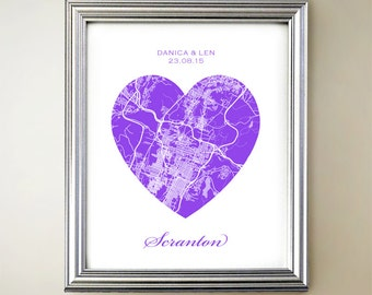 Scranton Heart Map