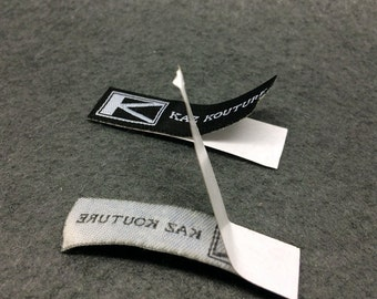 300 pcs adhesive clothing label,adhesive fabric label,stick on clothing label