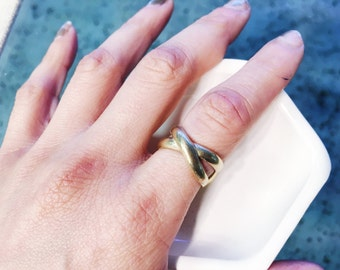 Double Band Brass Ring