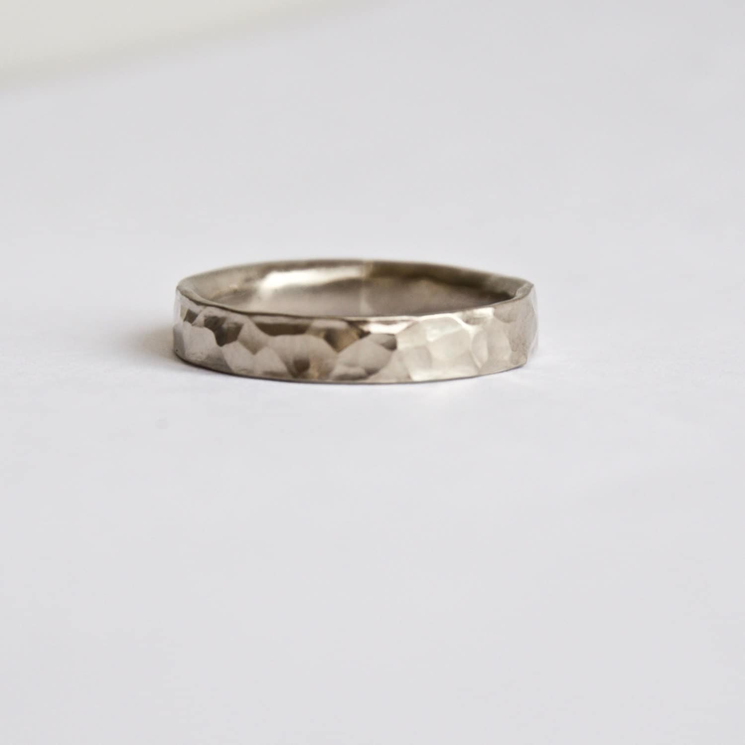 hammered white gold ring rustic wedding ring wedding With country wedding rings for women