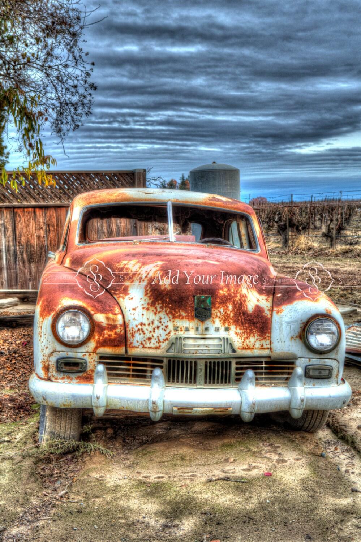 Digital Backdrop Digital Background Old Car Hdr Background