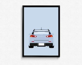 Mitsubishi Evo X A3 Print