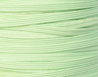 "1/8"" Skinny Elastic by the Yard, Thin Elastic for New Baby Girl Headbands, 1/8"" Skinny Elastic by the Yard, 5 yards or 10 yards Mint Green"