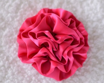 "3"" Cabbage Rose Flower Head, Wholesale Cabbage Flower Heads for Headbands, Lot of 1, 2, 5 or 10, Hot Pink"