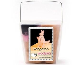 Needle Felting Kit, Needle Felted Animal - Kangaroo
