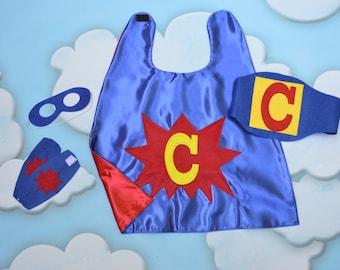 Personalized Toddler Superhero Costume Set. POW Superhero Set. Todder Superhero Belt and Accessories.