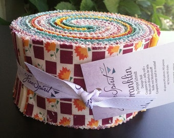 Franklin - Design Roll- 2 & 1/2 Inch Strips-  40 pieces (Approx 2.75 yards) - by Free Spirit (40% discount)